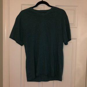 American Rag Men's V-Neck Teal T-Shirt